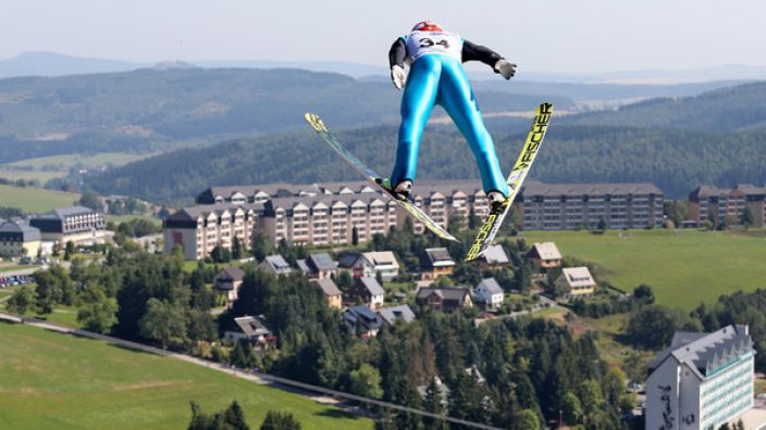 Die Fichtelbergschanze in Oberwiesenthal.