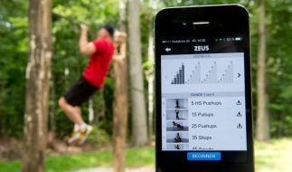 """Die Fitness-App """"Freeletics"""" gibt Kraft- und Ausdauerübungen vor, für die man kein Fitnessstudio braucht. (Foto)"""