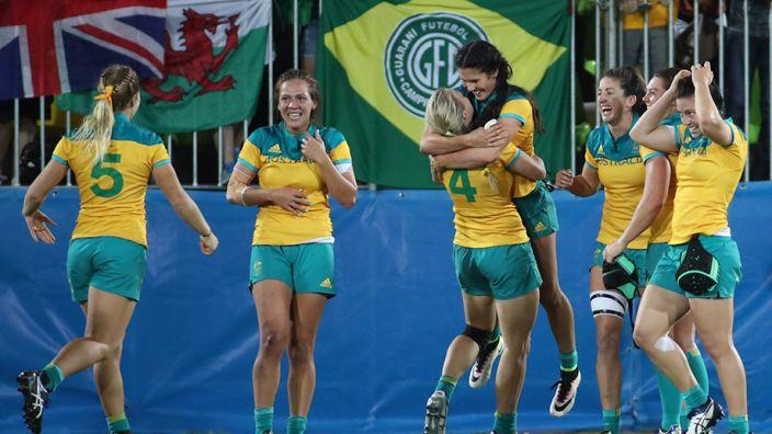 Die australische Frauenmannschaft konnte sich bei Olympia 2016 im Rugby gegen Favorit Neuseeland durchsetzen. (Foto)