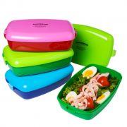 Die handliche Frozzypack Lunchbox gibt es in vielen bunten Farben und hält für jeden Geschmack etwas bereit.