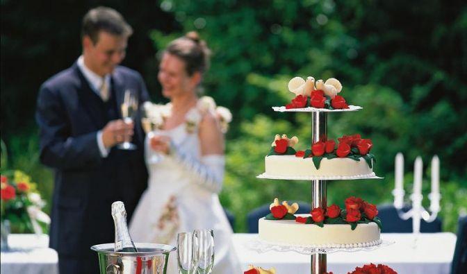 Die Hochzeitstorte (Foto)