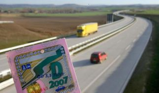 Die aktuelle Jahresvignette für Tschechien. Ab 2010 wird sie mehr kosten. (Foto)