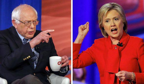 Die Kandidaten der Demokraten: Bernie Sanders und Hillary Clinton. (Foto)