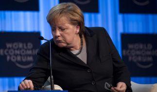 Die Kanzlerin war in Davos nicht zufrieden. (Foto)