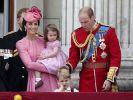 """Die königlichen Mini-Royals stahlen der Queen bei der """"Trooping the Colour""""-Parade die Show. (Foto)"""