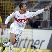 Zuletzt glänzte er im VfB-Dress gegen Dortmund, nun will er künftig für den BVB auflaufen: Julian Schieber.