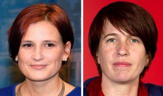 Die Linken-Frauen Katja Kipping (links) und Katharina Schwabedissen wollen für den Parteivorsitz kan (Foto)