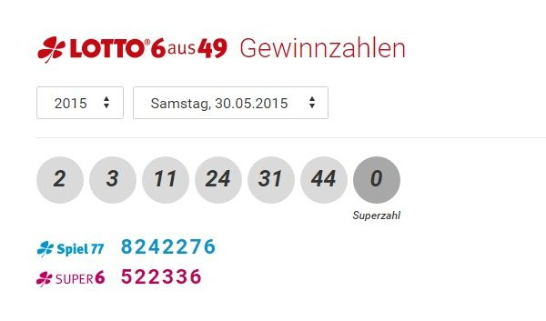 lotto zahlen at
