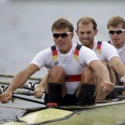 Die Nerven behalten: Die Crew um Schlagmann Tim Grohmann aus Dresden ruderte souverän zu Olympiagold.