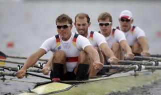 Die Nerven behalten: Die Crew um Schlagmann Tim Grohmann aus Dresden ruderte souverän zu Olympiagold. (Foto)