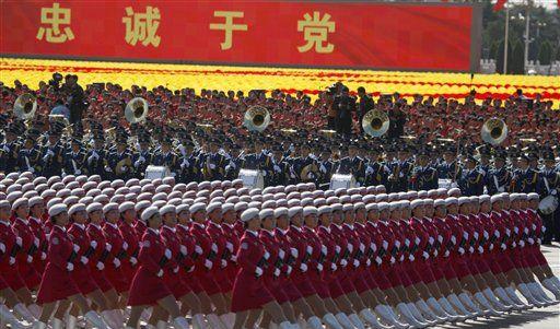 Die Parade zum 60. Jahrestag der Gründung der Volksrepublik China. (Foto)
