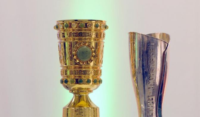 Die Pokale des Deutschen Fußball Bundes. (Foto)