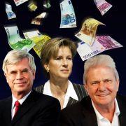 Deutschlands Superreiche: Michael Otto, Susanne Klatten und Dietmar Hopp (von links).