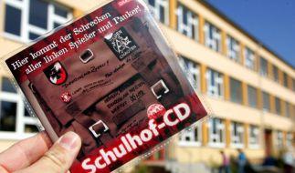 Die Schulhof-CD, die von der NPD kostenlos deutschlandweit verteilt wird. (Foto)