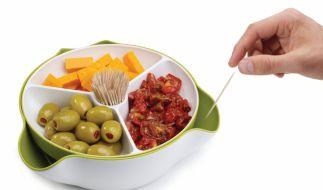 Die Snackschale namens Double Dish Deluxe macht aus jedem noch so profanen Imbiss einen Hingucker. (Foto)