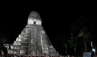 Die heiligen Stätten der Maya sind vor dem drohenden Weltuntergang gut besucht. (Foto)