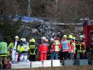 Die Unfallstelle des Zugunglücks in der Nähe von Bad Aibling. (Foto)