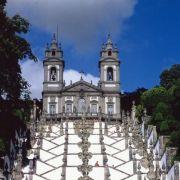 Die Wallfahrtskirche Bom Jesus do Monte in Braga ist ein beliebtes Ziel für Besucher der nordportugiesischen Stadt.