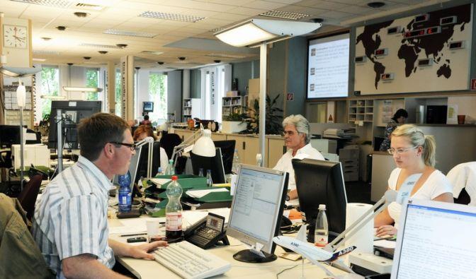 Die Zentralredaktion der dpa in Hamburg. (Foto)