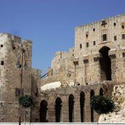 Die Zitadelle von Aleppo. Immer mehr Kinder in der kriegserschütterten Stadt begehen Suizid. (Foto)