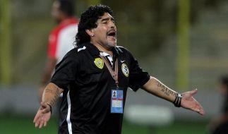 Diego Maradona ist als Trainer entlassen worden - gehen will er aber nicht. (Foto)