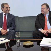 Differenzen überbrückt und Koalition gebildet: Die Parteibosse Antonis Samaras (Neue Demokratie) und Evangelos Venizelos (Pasok).