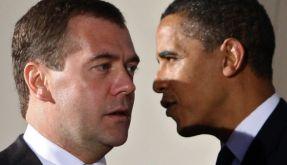 Dmitri Medwedew und Barack Obama (Foto)