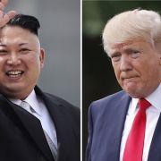 Donald Trump und Kim Jong Un hören nicht auf, sich gegenseitig Drohungen zu zuschießen. (Foto)