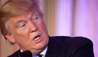 Donald Trump stößt mit seinen provokativen politischen Ansichten vielerorts auf Ablehnung. (Foto)