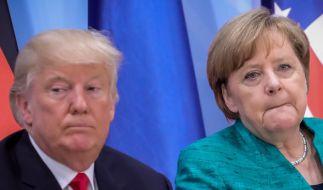 Donald Trump und Angela Merkel. (Foto)