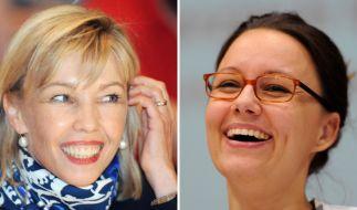 Doris Schröder-Köpf (links) und Michelle Müntefering wollen es aus eigener Kraft schaffen. (Foto)