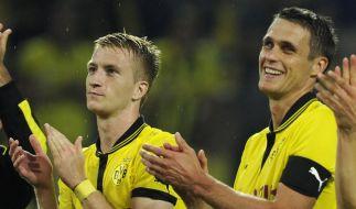 Dortmund feiert mit Marco Reus (links) und Sebastian Kehl einen erfolgreichen Saisonauftakt. (Foto)