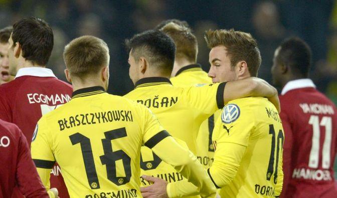 Dortmund mit Powerfußball ins Pokal-Viertelfinale (Foto)