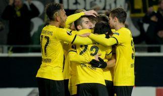 Dortmund nach 2:0 Sieg über den FC Porto vor Einzug ins Achtelfinale der Europa League. (Foto)