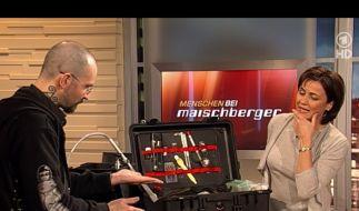 Dr. Mark Benecke bei Sandra Maischberger (Foto)