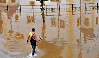 Dramatische Hochwasserlage an Grenze zu Polen (Foto)