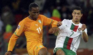 Drogba und Ronaldo (Foto)