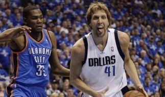 Duell der Stars: Nowitzki vs. Durant zum Playoff-Start (Foto)