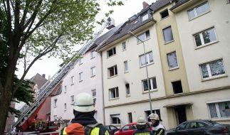 Durch ein verheerendes Feuer sind in dem Mehrfamilienhaus drei Menschen ums Leben gekommen. (Foto)