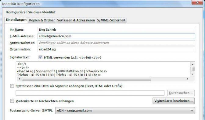 E-Mails in Thunderbird mit unterschiedlicher Identität senden (Foto)