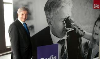 Ein aktuelles Wahlplakat von Klaus Wowereit.  (Foto)