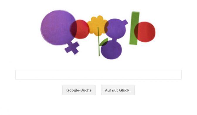 Ein Google Doodle zum Frauentag (Foto)