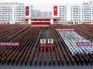 Ein Großtreffen der kommunistischen Partei am 30. September in der Hauptstadt Pyongyang. (Foto)
