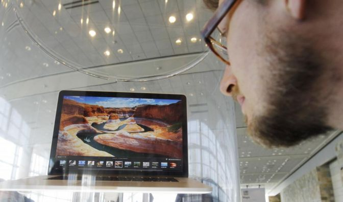 Ein neues MacBook bei der WDDC 2012: Das Apple-Gerücht mit dem hochauflösenden Display wird wahr. (Foto)