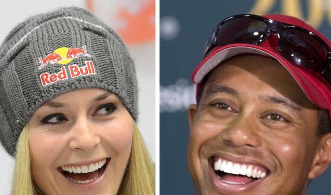 Ein ungleiches Paar: Skirennläuferin Lindsey Vonn und Golflegende Tiger Woods sind zusammen. Das bestätigten sie Mitte März 2013 auf ihren Facebook-Seiten. Gerüchte um eine Liaison hatte es schon länger gegeben. (Foto)