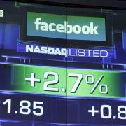 Ein leichter Zugewinn, aber noch immer weit unter dem Ausgabepreis: die Facebook-Aktie an der Wall Street.