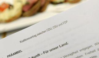 Eine Ausgabe des Koalitionsvertrages zwischen CDU, CSU und FDP. (Foto)