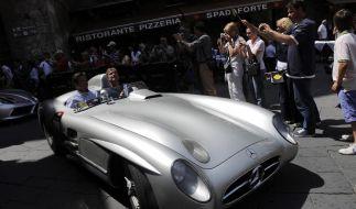 Eine unbezahlbare Legende mit 300 PS: der Mille Miglia-Silberpfeil von 1955. (Foto)