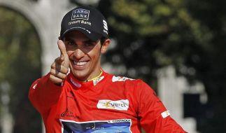 Eine Ohrfeige für die Dopingjäger: Nach dem Ende seiner Sperre gewann Kalbfleischliebhaber Alberto Contador die Spanien-Rundfahrt. (Foto)