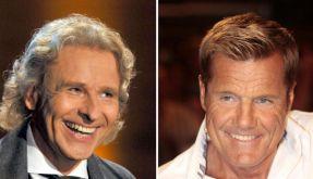 Einem Medienbericht zufolge steht Thomas Gottschalk (links) kurz vor einem Wechsel zu RTL. Dort soll er neben Dieter Bohlen als Juror in der Castingshow Das Supertalent sitzen. (Foto)